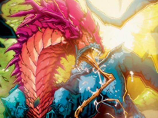 * Ikoria Lair of Behemoths Lore Drakkis Magic Showcase Frame the Gathering