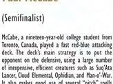1997 Paul McCabe Biography Card