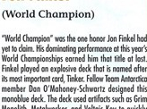 2000 Jon Finkel Biography Card