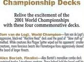 2001 World Championship Advertisement Card