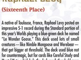 2002 Raphael Levy Biography Card