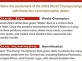 2003 World Championship Advertisement Card