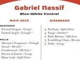 2004 Gabriel Nassif Decklist Card
