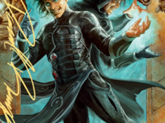 Jace, Mirror Mage Art Card (2/81) (Gold-Stamped Signature)