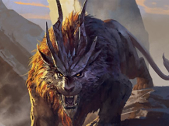 Cat Beast // Goblin Construct Double-sided Token