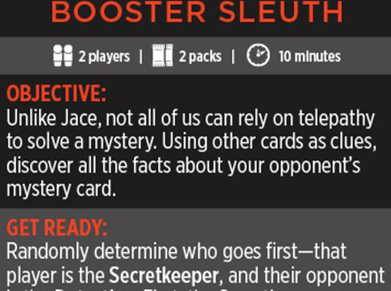 Magic Minigame: Booster Sleuth