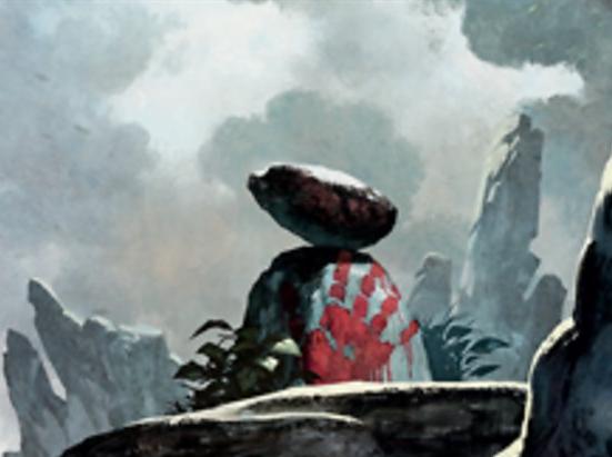 Rock // Salamander Warrior Double-sided Token
