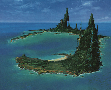 Island (Spires Right)
