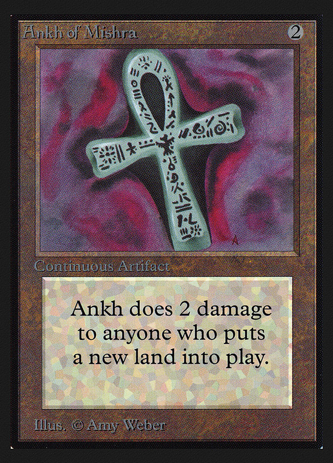 Ankh of Mishra (CE) card from Collector's Edition