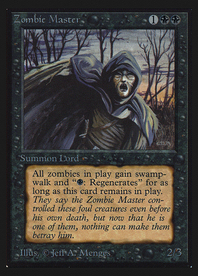 Zombie Master (IE) card from International Edition