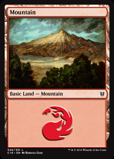 Mountain (346) card from Commander 2016