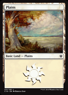 Plains (337) card from Commander 2016