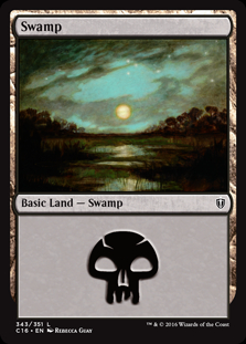 Swamp (343) card from Commander 2016