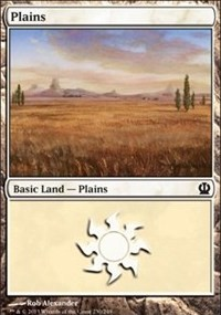 Plains (230) card from Theros