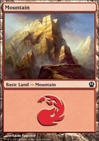 Mountain (244) card from Theros