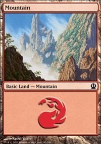 Mountain (245) card from Theros