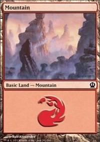 Mountain (242) card from Theros