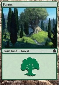 Forest (247) card from Theros