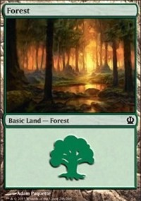 Forest (248) card from Theros