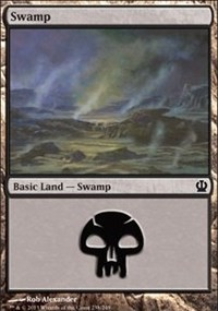 Swamp (238) card from Theros