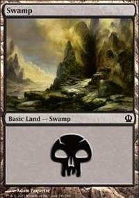 Swamp (240) card from Theros