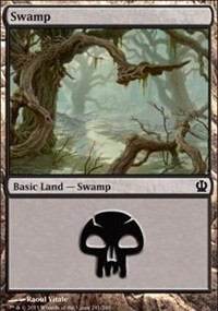 Swamp (241) card from Theros