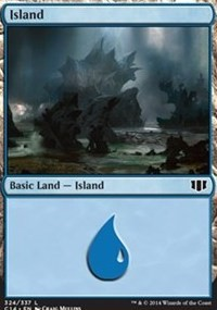 Island (324) card from Commander 2014