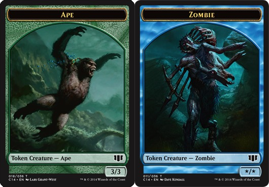 Ape // Zombie (Blue) Double-sided Token