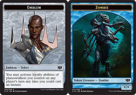 Emblem - Teferi // Zombie (Blue) Token