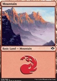 Mountain (36) card from Duel Decks: Speed vs. Cunning