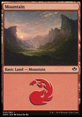Mountain (35) card from Duel Decks: Speed vs. Cunning