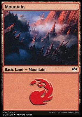 Mountain (37) card from Duel Decks: Speed vs. Cunning