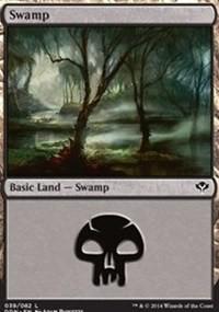 Swamp (39) card from Duel Decks: Speed vs. Cunning