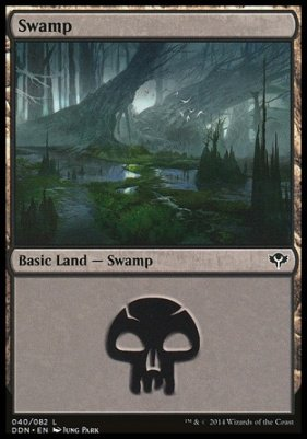 Swamp (40) card from Duel Decks: Speed vs. Cunning