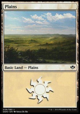 Plains (38) card from Duel Decks: Speed vs. Cunning