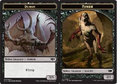 Demon (5/5) // Zombie (Black) Double-sided Token