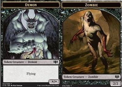 Demon (x/x) // Zombie (Black) Double-sided Token