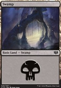 Swamp (326) card from Commander 2014