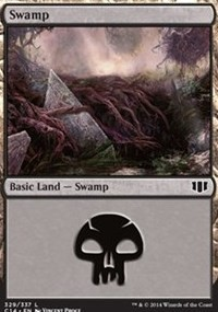 Swamp (329) card from Commander 2014