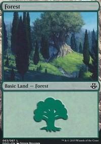 Forest (63) card from Duel Decks: Elspeth vs. Kiora