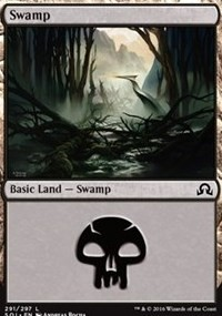 Swamp (291) card from Shadows over Innistrad