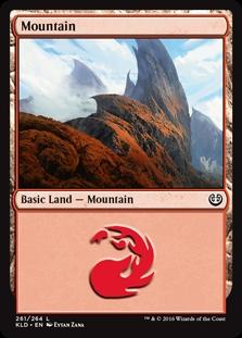 Mountain (261) card from Kaladesh