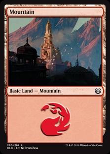 Mountain (260) card from Kaladesh