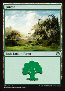 Forest (263) card from Kaladesh