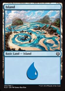Island (254) card from Kaladesh