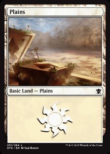 Plains (251) card from Dragons of Tarkir