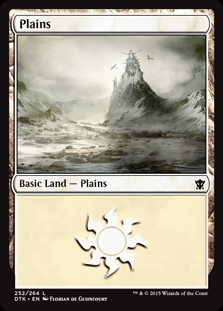 Plains (252) card from Dragons of Tarkir