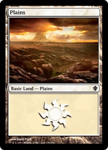 Plains (339) card from Commander 2013 Edition