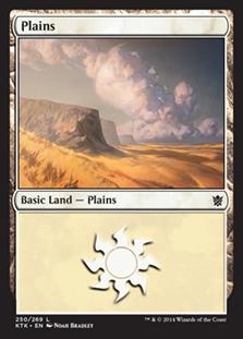 Plains (250) card from Khans of Tarkir