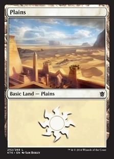 Plains (252) card from Khans of Tarkir